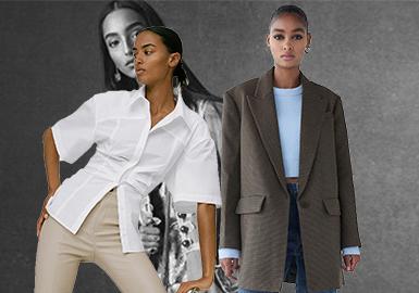 本次报告以ZARA、H&M、Urban Revivo为重点参考品牌。本季快时尚品牌值得重点关注的主要设计方向包含:卡通动画IP合作系列图案应用较多;都市休闲风格成为早秋季主要风格;透气环保棉麻及天然滑顺丝绸仍是快时尚品牌选用的重要面料;连衣裙是最受欢迎的热门单品,抽褶工艺应用依旧占据快销市场较大份额。