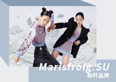 """Marisfrolg.SU是玛丝菲尔时尚集团旗下创意品牌,通过明快的色彩、有趣的设计、创意的搭配,塑造快乐、独立、率性、真实的女孩形象,将对美好生活的向往和对个性表达的追求,融入品牌""""每一天的艺术""""的基因里,强调每一天都是独特的一天。"""