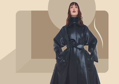 简欧通勤装--女装皮衣皮草廓形趋势