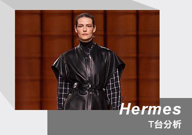 "Hermès 2021/22秋冬女装系列大秀在纽约-巴黎-上海三座城市联合呈现。这场时装秀""三部曲""用三种截然不同的形式创造出时尚序列。第一幕在纽约公园大道军械库,美国编舞家玛德琳霍兰德以纽约行人节奏为灵感创作的舞蹈拉开时装秀序幕。第二幕于巴黎共和国卫队总部进行时装秀。第三幕于上海爱马仕之家呈现,中国编舞家古佳妮以""八卦""为灵感编舞通过身体律动表达出强大力量和激情。本季女装系列表达探索对新时代感性之处的渴望。打破思维与习惯,汲取不同文化。犹如亚马逊女战士般的模特们,身着全新系列昂首前行,充满神秘、力量与光环。打破传统的面料与褶皱的设计方式,与柔软温暖的羊绒呼应,传递出自我重塑的信息。"