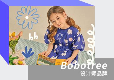 来自韩国的童装设计师品牌Bobotree,用明亮的色彩,童真的笔触表现来自孩童视角的儿童服饰感受,品牌擅长运用对比色彩,时尚的廓形打造儿童穿着的新鲜体验,大多运用针织面料,纯棉材质,让款式变得更加自然与舒适。