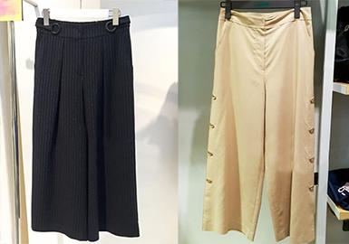 阔腿裤是修饰下半身最适合的单品,它宽松舒适又时尚显瘦,不同的长度配合不同的穿搭,总能穿出不同的时尚味道。当阔腿裤的廓形无限的接近裙装,便能同时为你提供裙装的飘逸和裤装的方便。宽松大阔腿搭配修身高腰款型,温柔又有个性。